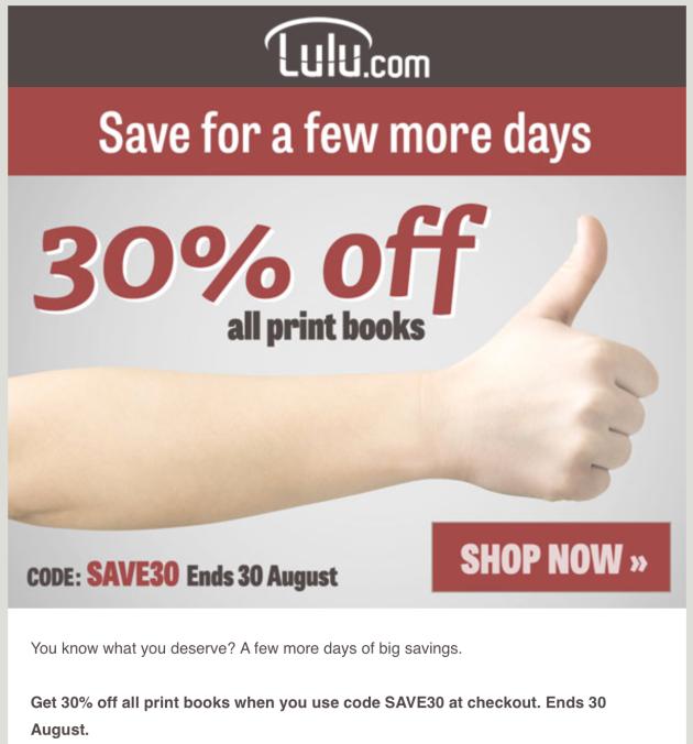 Lulu Sale 28 Aug