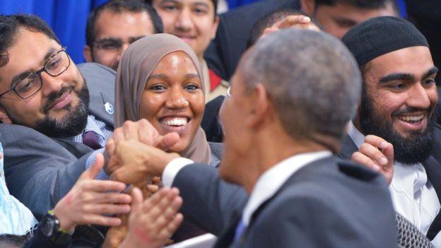 Barack Obama meeting American Muslims