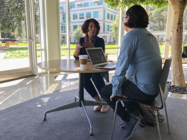 Apple HR executive Denise Young Smith, speaking with Recode's Ina Fried