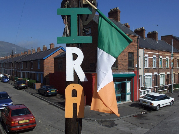 IRA flag Irish Republican Army Gerry Adams