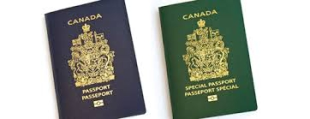 Canadian standard passport and special passport