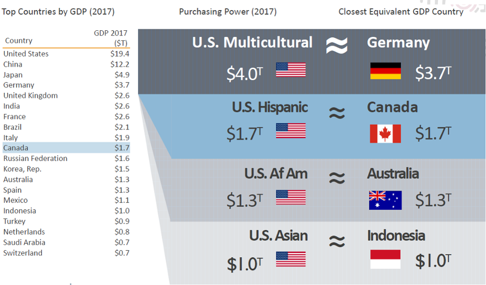 US multicultural revenue