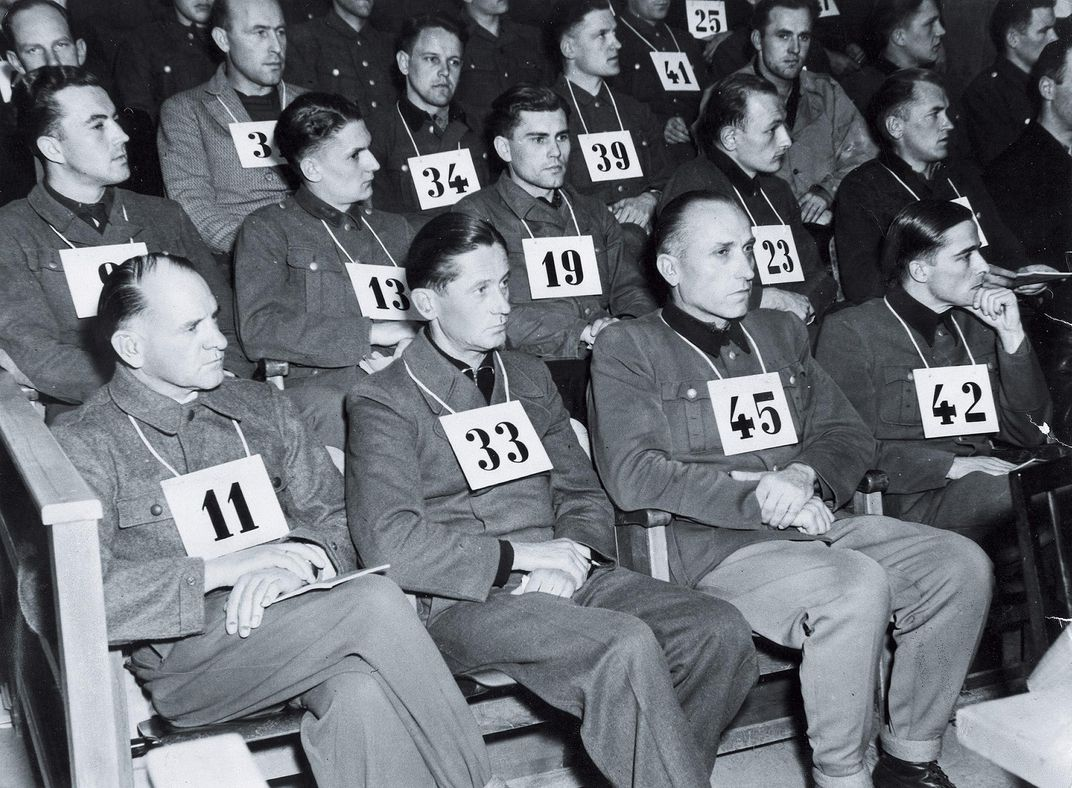The trial, held from May to July 1946 in the former concentration camp at Dachau, Germany, charged German generals along with rank-and-file soldiers. All but one of the defendants was found guilty; within a decade, all walked free.