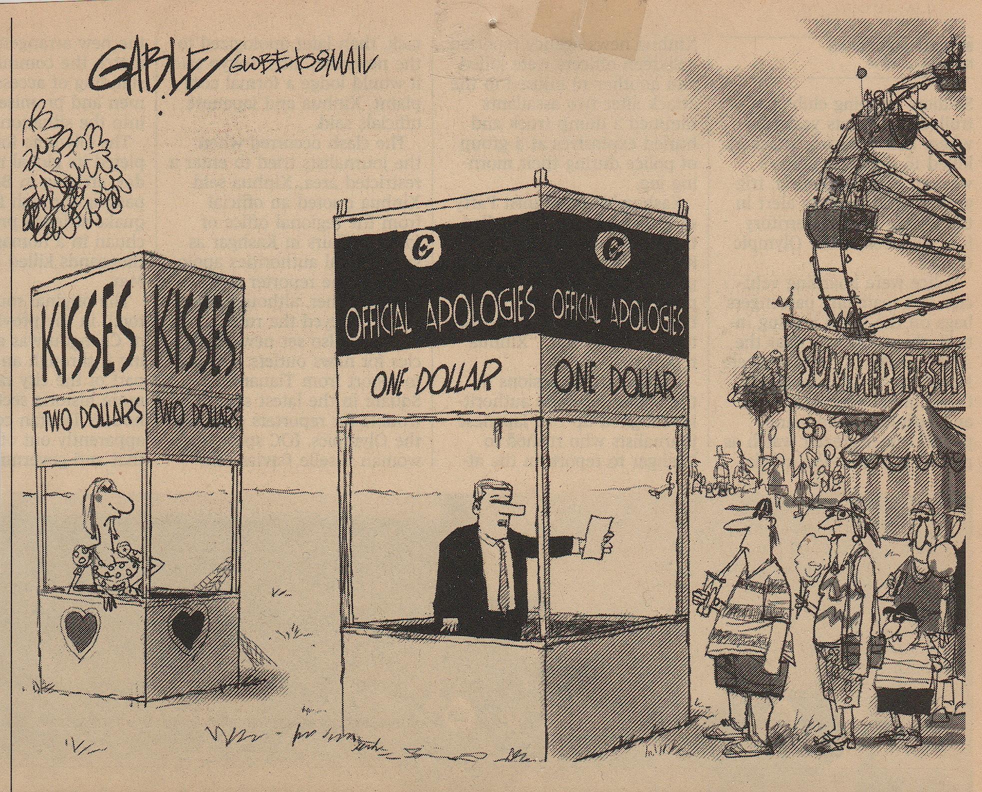 Harper appology cartoon